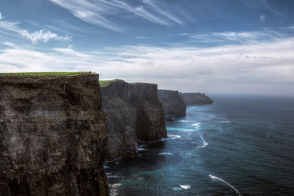 The eye-opening sight of the Cliffs of Moher, one of the best things to do in Ireland.