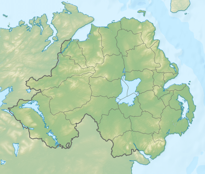 The border with the six counties of the North of Ireland, shut due to spread of Covid.