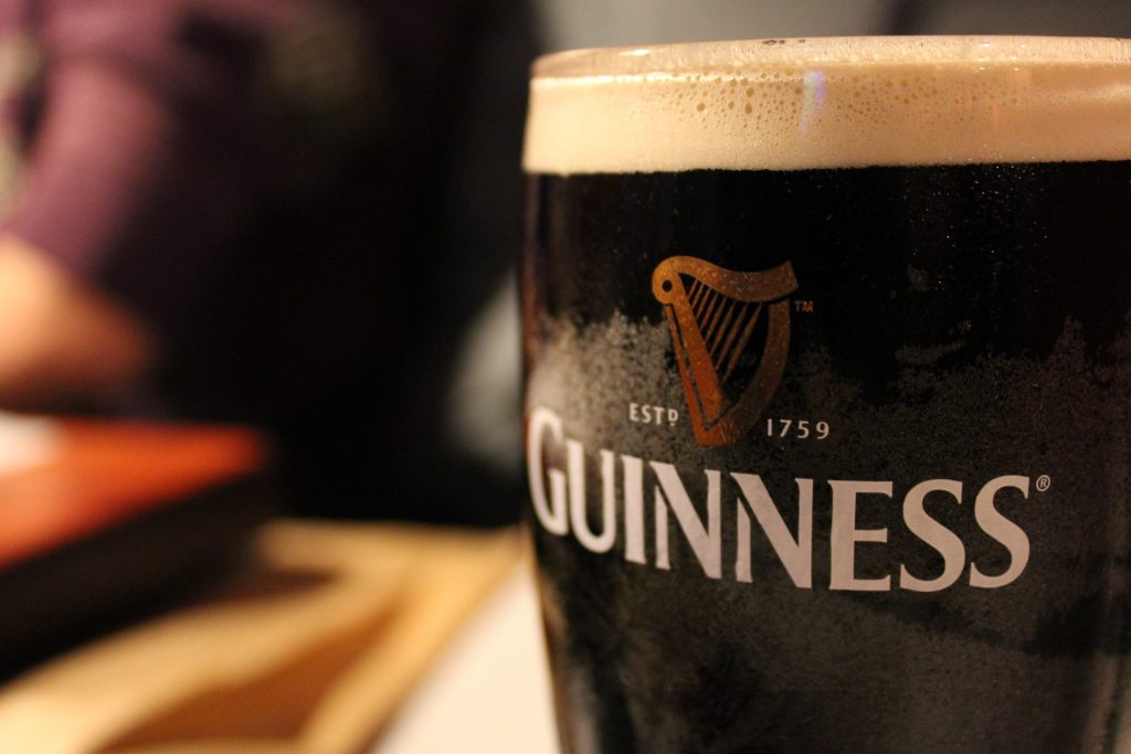 Guinness - Ireland's number one alcoholic drink