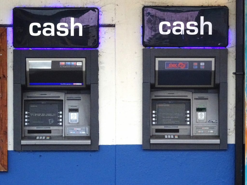 Two ATM's, which Dublin gangs were able to 'smash and grab' from home.