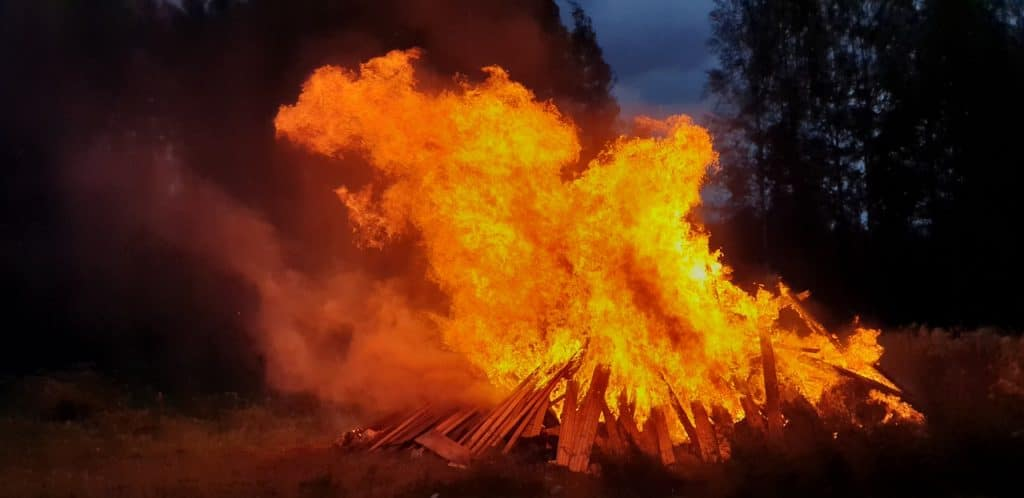 Bonfires were part of Lughnasadh, one of the important and sacred Celtic holidays of the year.