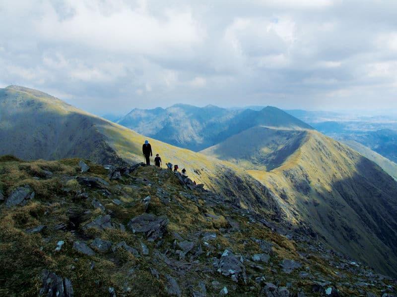 Carrauntoohil Mountain, the highest peak in all of Ireland.