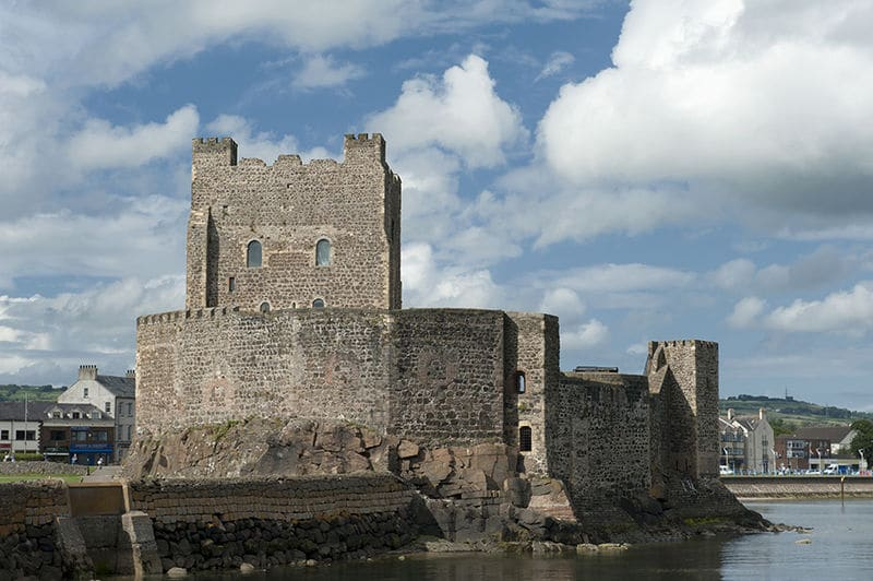 The Carrickfergus Castle, another of the best castles in Ireland.