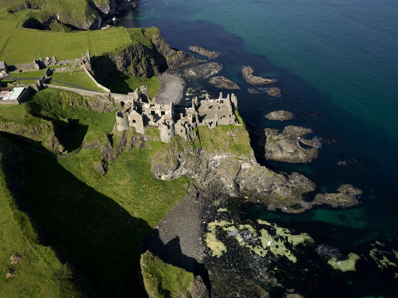 The magnificent Dunluce Castle off the coast of Country Antrim.