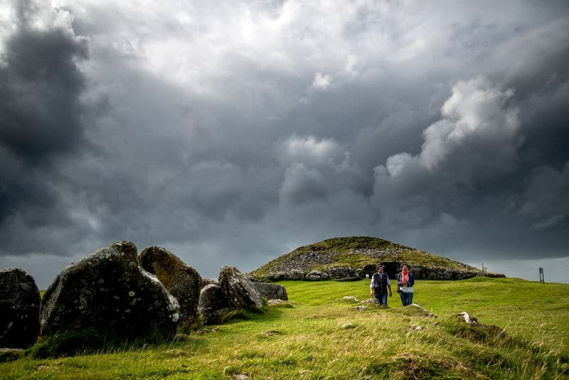Loughcrew Cairns, an important part of the Autumnal equinox, an important and sacred Celtic holiday.