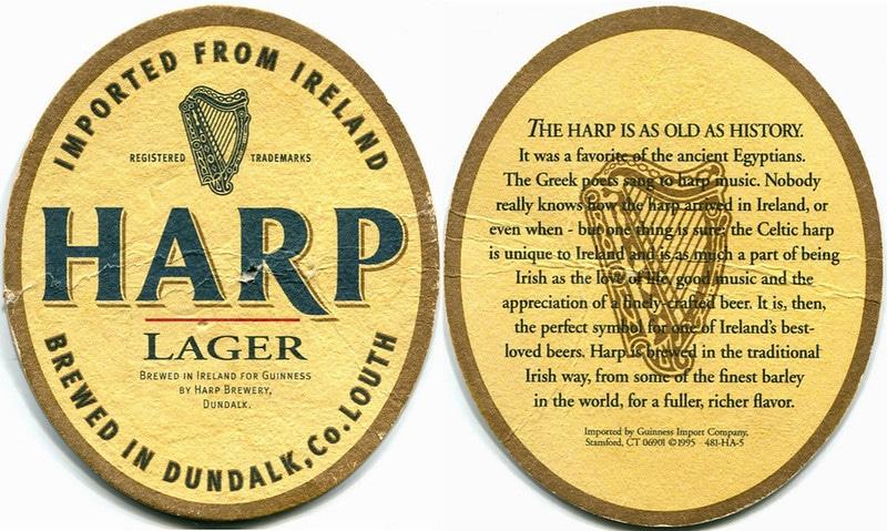 Harp is one of the best Irish beers.