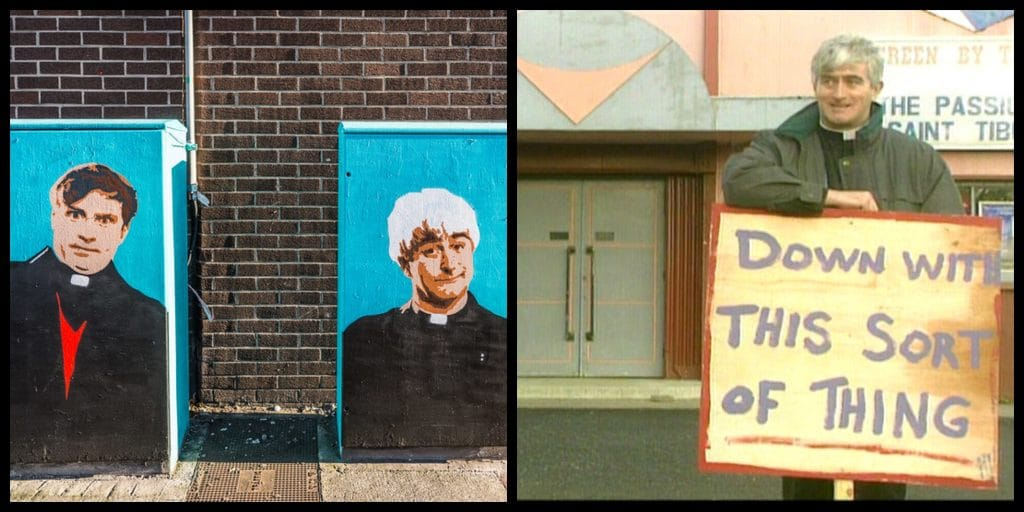 """Applications for """"dream job"""" as Father Ted TV Critic at Meanwhile in Ireland flood in."""