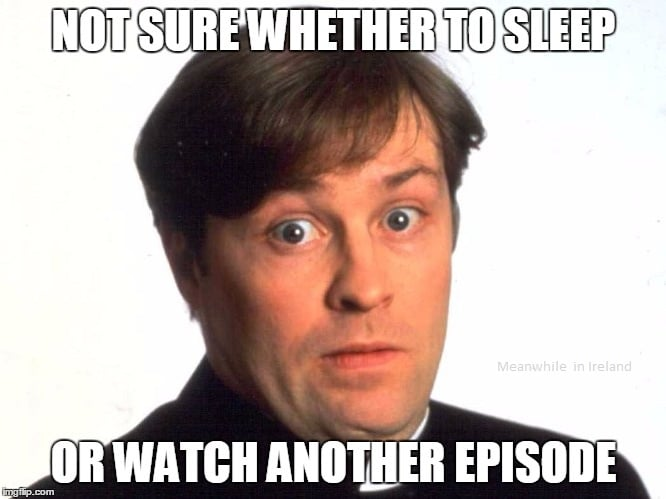 The job of a Father Ted TV critic in a nutshell.