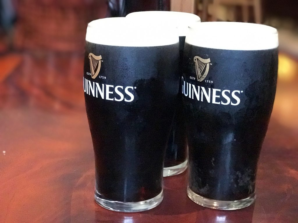 Guinness Irish Stout – Ireland's most famous drink.