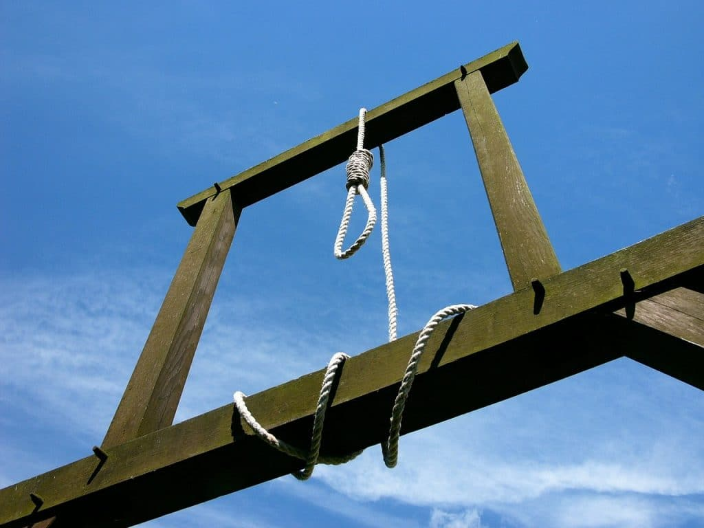 The punishment for suicide - hanging.