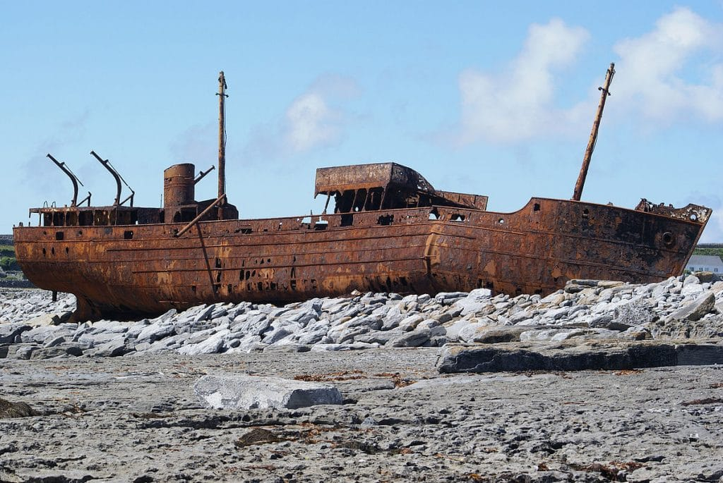 The MV Plassey shipwreck which starred in the opening episode of Father Ted.