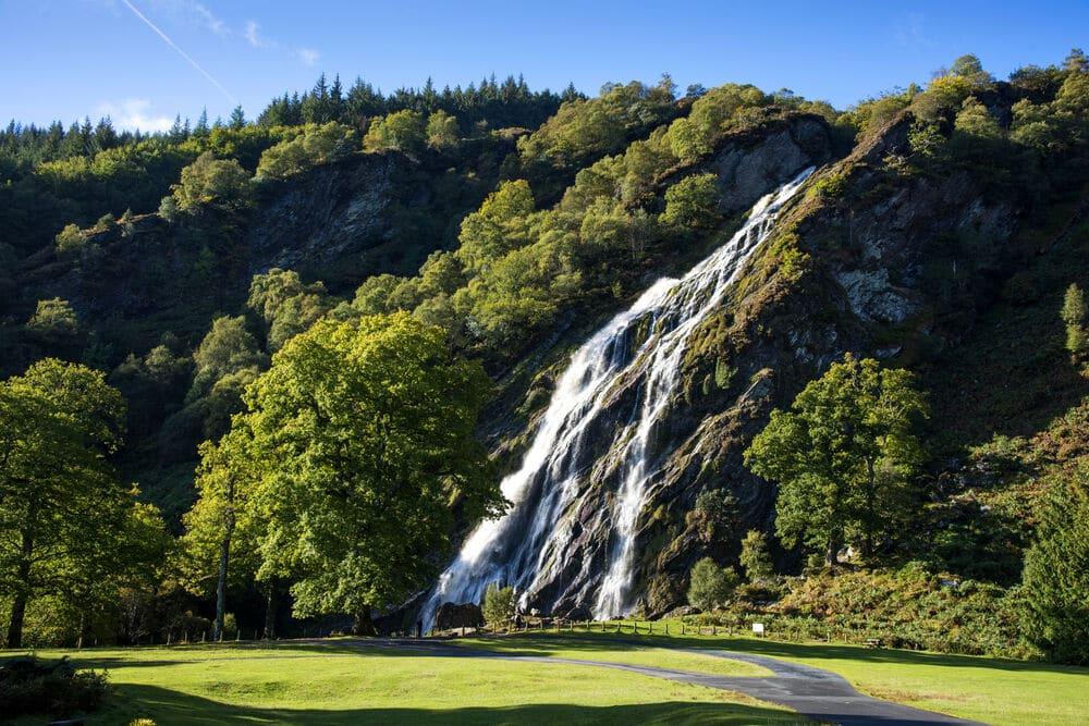 Powerscourt Waterfall, Co Wicklow – a mesmerizing waterfall .