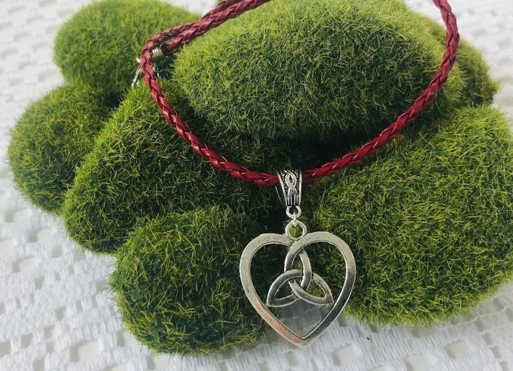 The Trinity Knot is one of the most recognisable Irish celtic symbols.