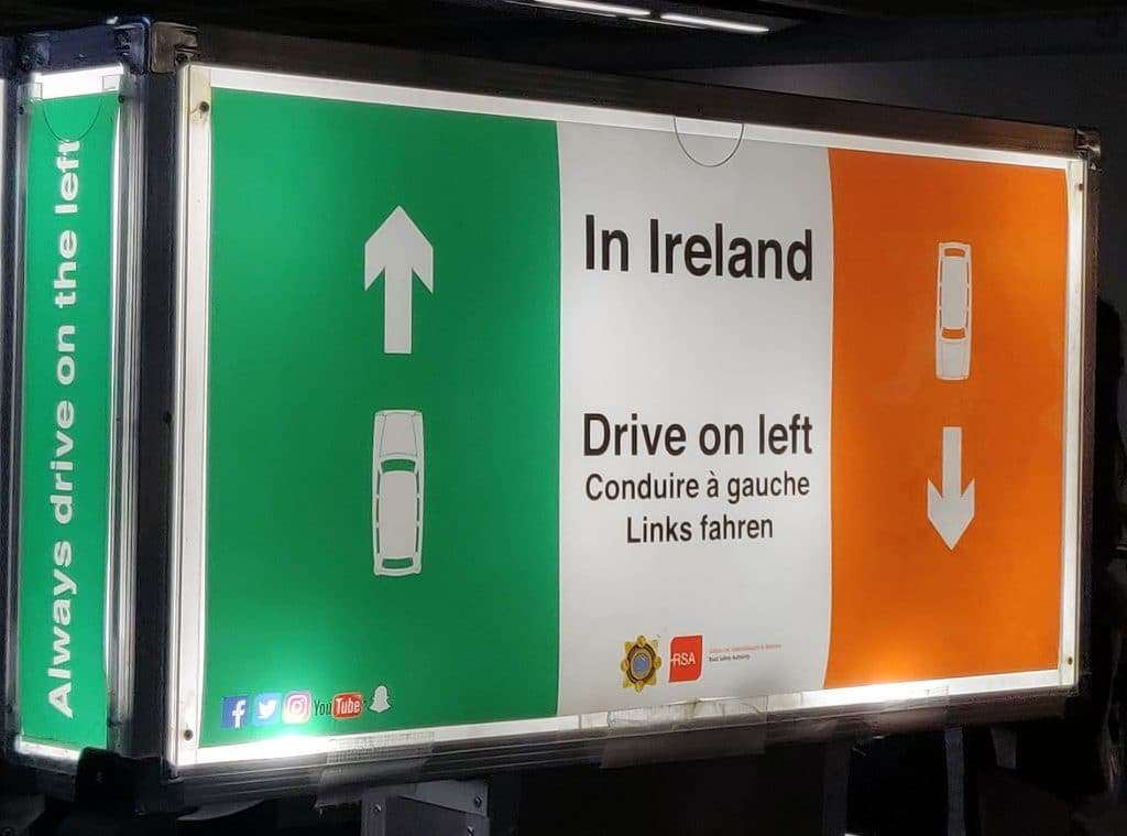 First things first on what not to do in Ireland; don't drive on the right side of the road!