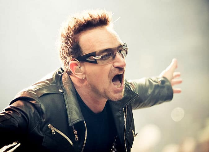 Bono - why does he constantly wear sunglasses?