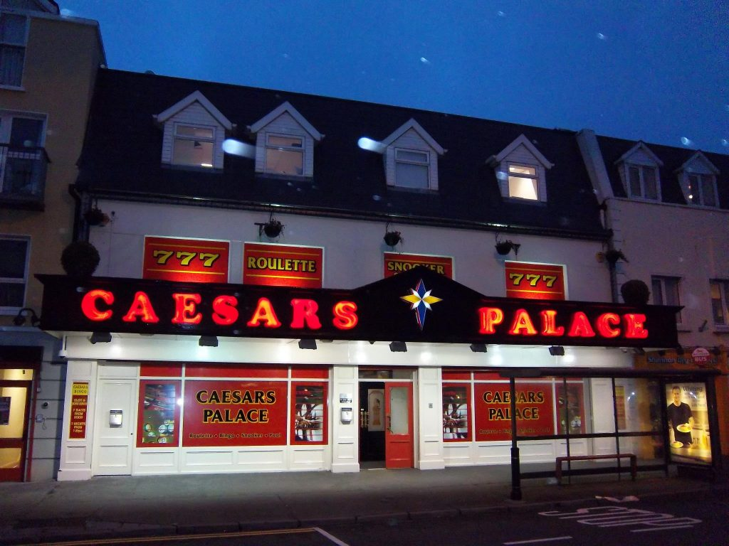 Number three on our list of Ireland's best casinos is Caesars Palace in Galway.