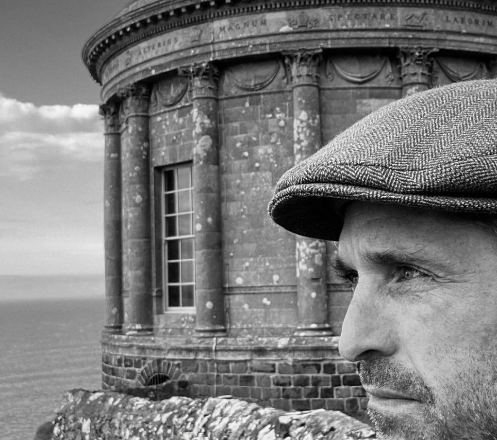 Patrick Dempsey visited Mussenden Temple in Northern Ireland.