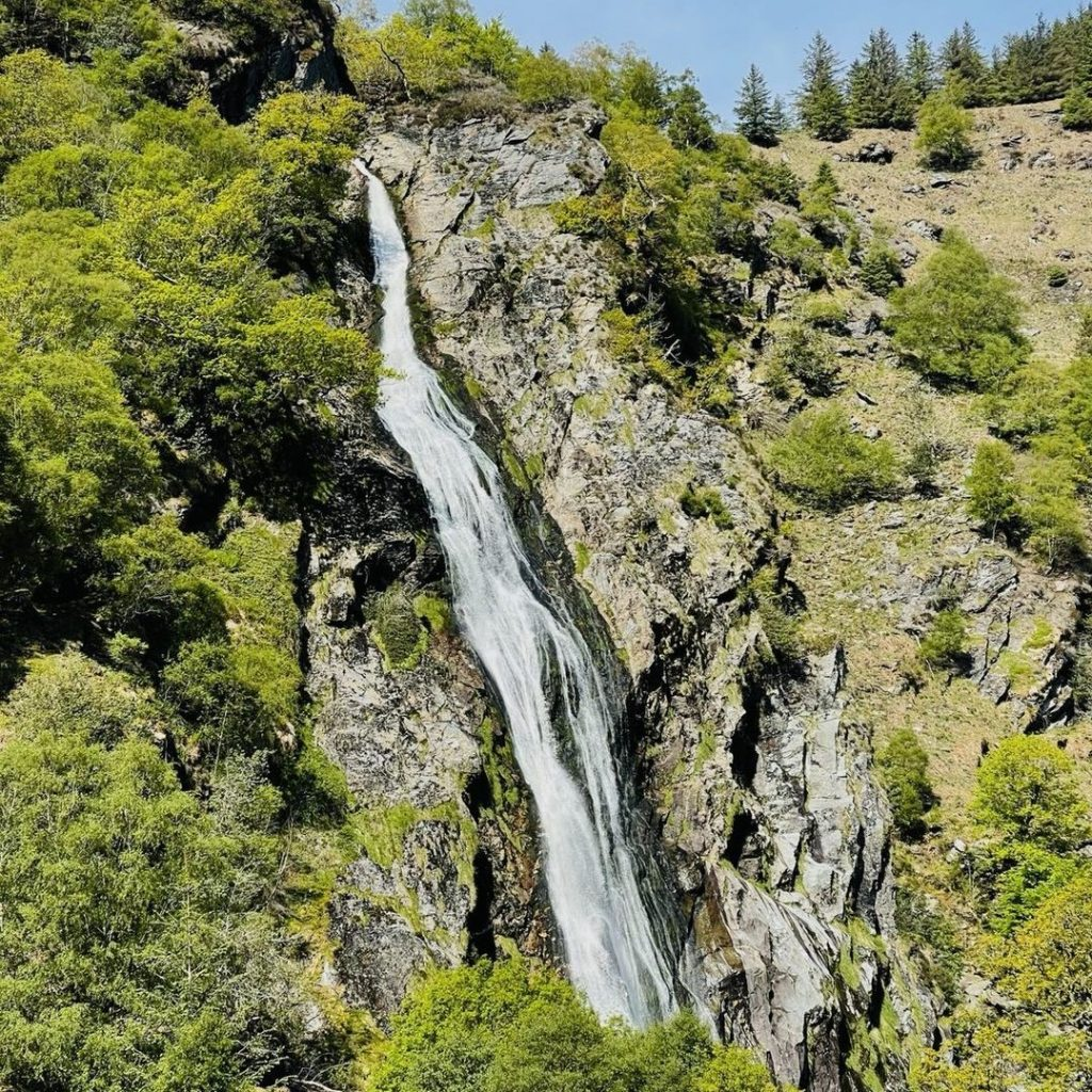 While in Ireland, Patrick Dempsey visited Powerscourt Waterfall.