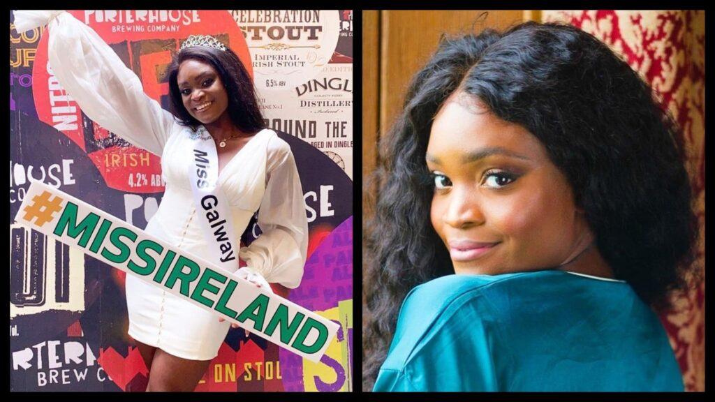Pamela Uba has made history as the first black Miss Ireland.