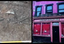 The first skeletal remains were discovered around two weeks ago under the Cork pub. This led to the discovery of five other bodies.